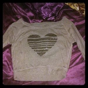 Sparkly heart shirt